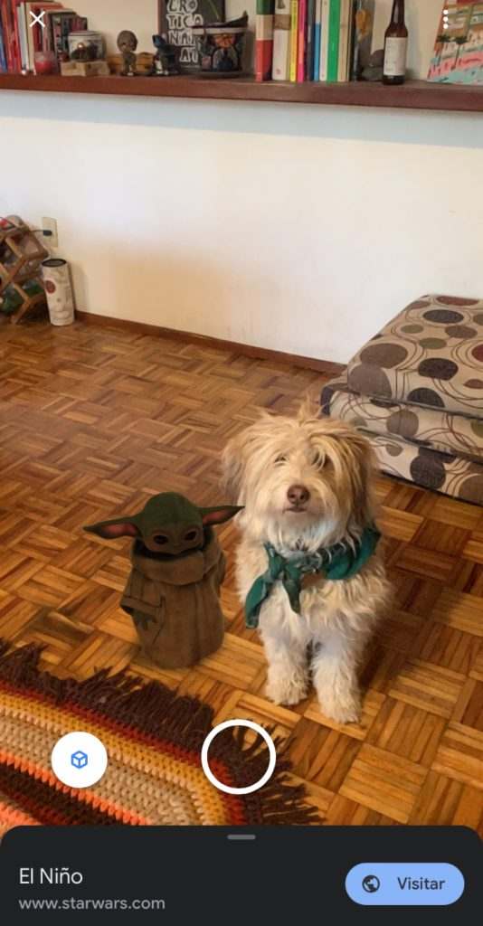 Baby Yoda en 3D en la sala de tu casa.
