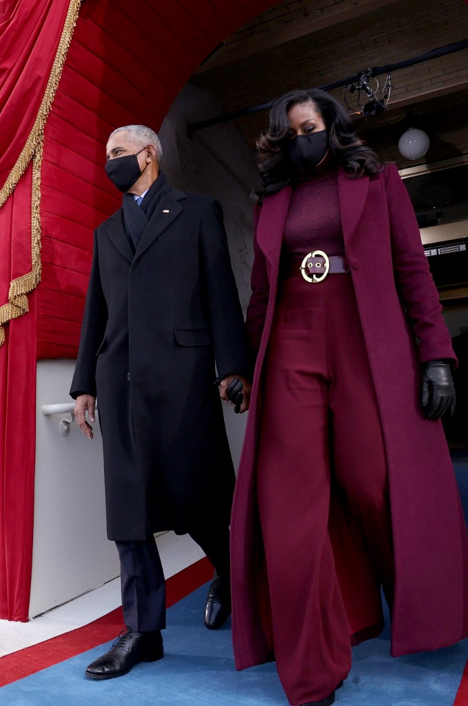 Michelle Obama en el Inauguration Day de Joe Biden. Foto: Jonathan Ernst-Pool | Getty Images | AFP