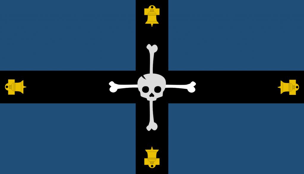 La bandera de Hidalgo está inspirada en el Regimiento de la muerte del doliente de Hidalgo. Reddit: Reyni Bros