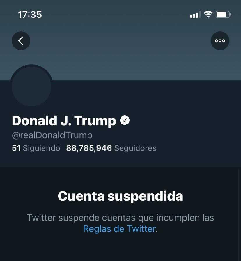 Trump contaba con más de 88.7 millones de seguidores en Twitter.