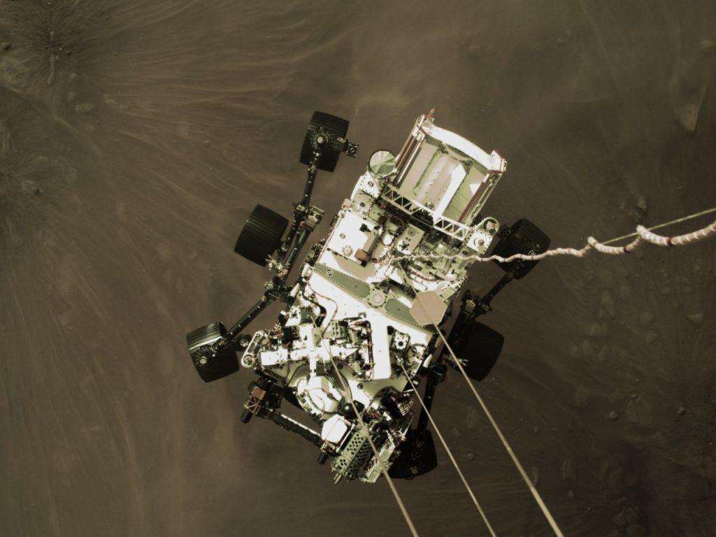 El amartizaje de la Perseverance en Marte. Foto: NASA
