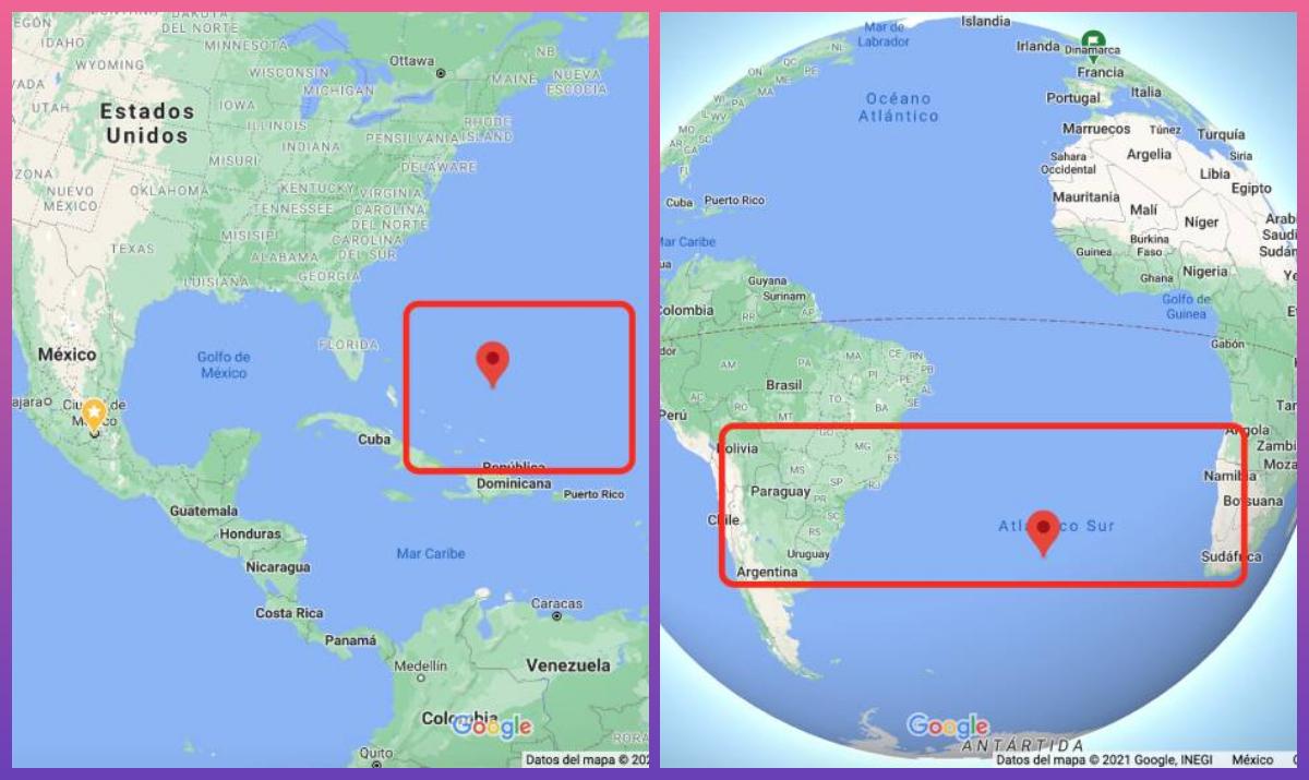 """La Anomalía del Atlántico Sur es conocida como """"el tríangulo de las Bermudas del espacio"""". Fotos: Google"""