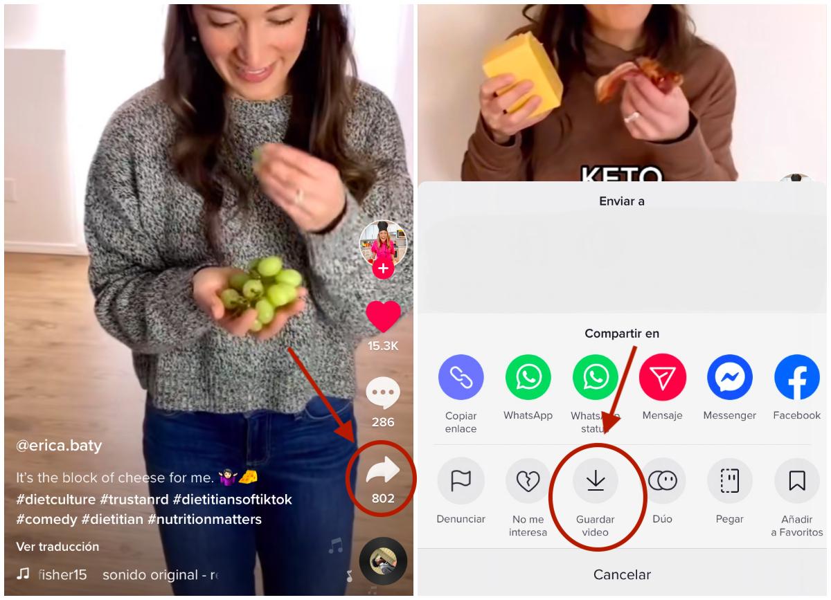 Cómo descargar un video de TikTok. Foto: TikTok