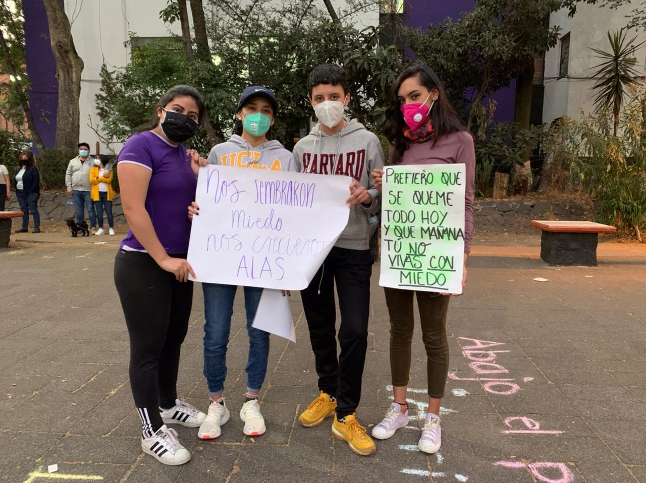 marcha de mujeres alvaro obregon cdmx