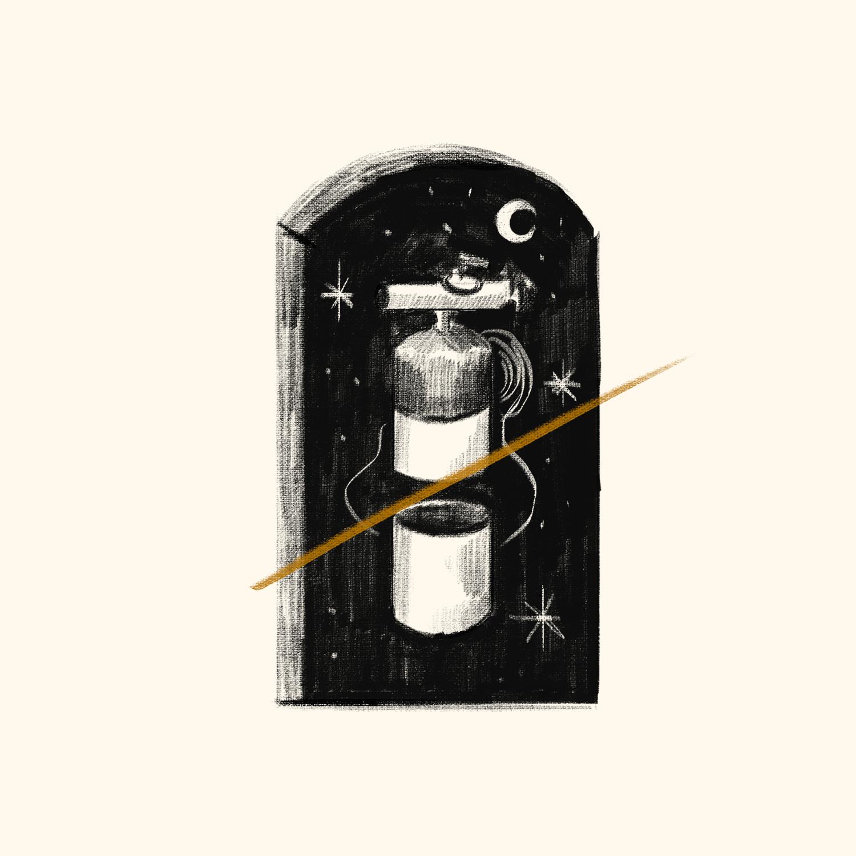 Sueños de pandemia: soñé con el tanque de oxígeno de mi papá. Ilustraciones: Daniela Díaz (@_danichi) | Jesús Santamaría (@RE_Ilustrador)