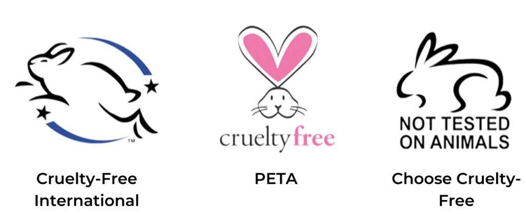 Estos son algunos ejemplos del sello cruelty-free, aunque pueden variar dependiendo las marcas. (Foto: Especial)