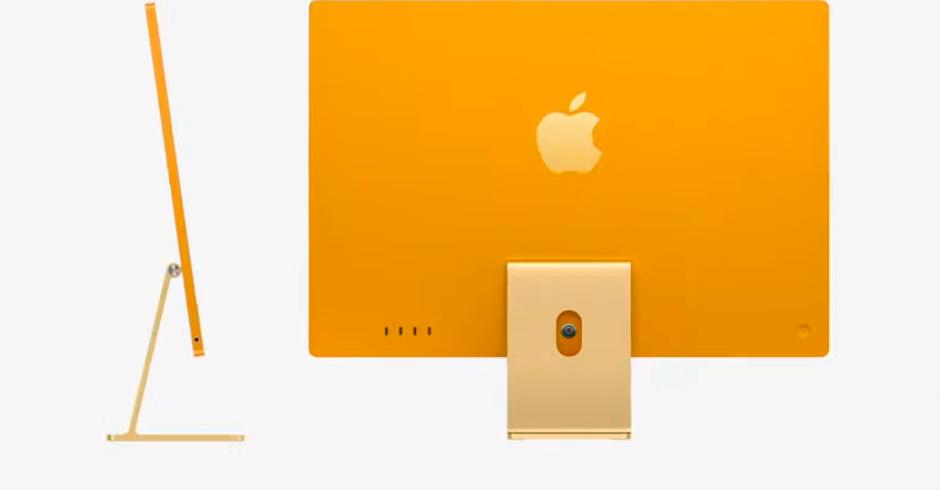 La nueva iMac es mucho más delgada gracias al chip M1 creado por Apple. Foto: Apple