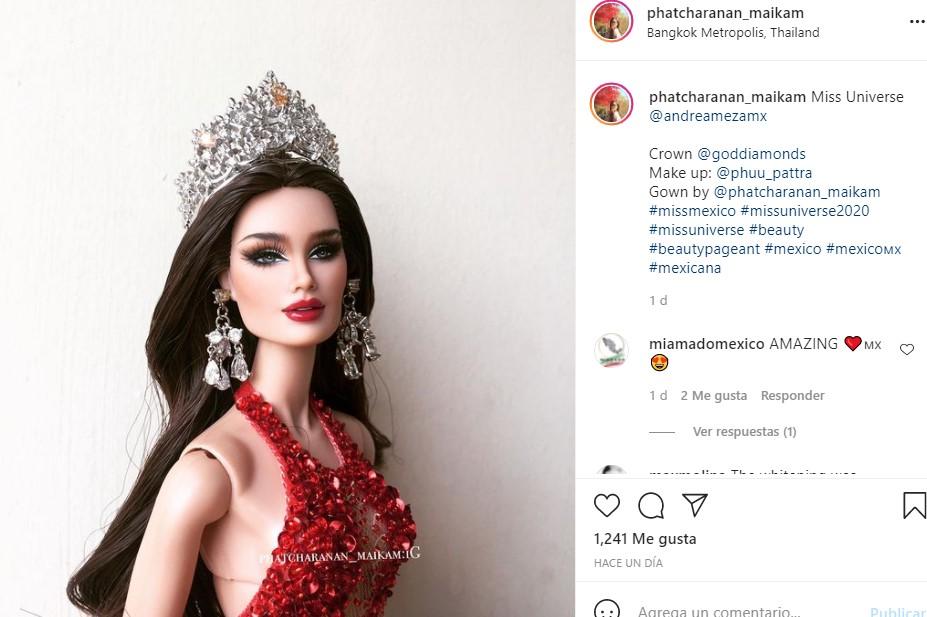 La publicación de la Barbie de Andrea Meza ya no está en Instagram. Foto: @phatcharanan_maikam