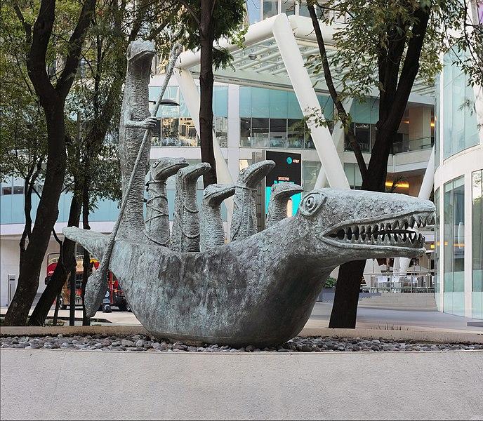 """Cocodrilo"", de Leonora Carrington en Paseo de la Reforma. Foto: Wikimedia Commons"