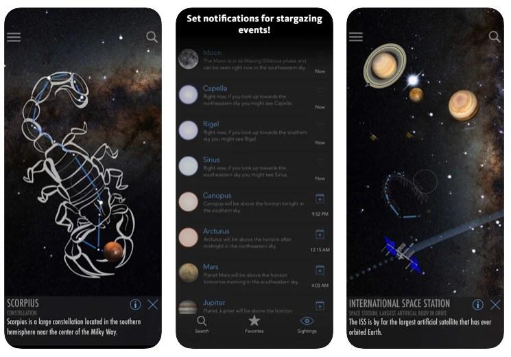 Aplikacje do oglądania gwiazd i planet