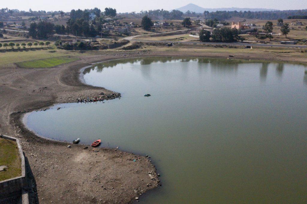 La presa Villa Victoria opera actualmente a 33% de su capacidad. Foto: Cuartoscuro