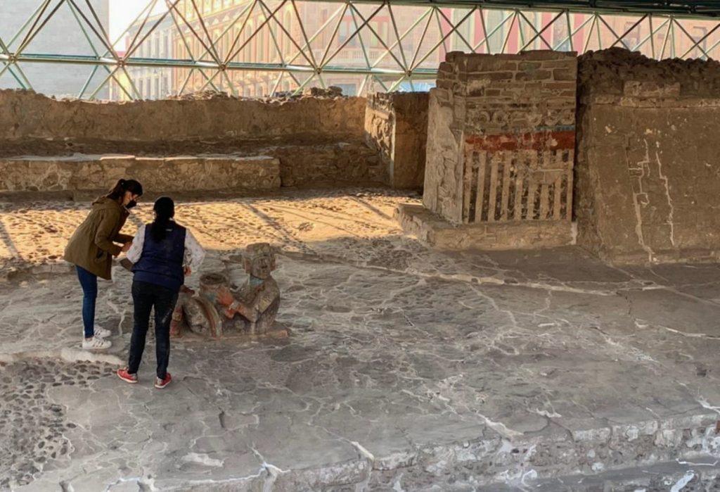 Casa de las Águilas, en el Templo Mayor. Foto: Cuartoscuro