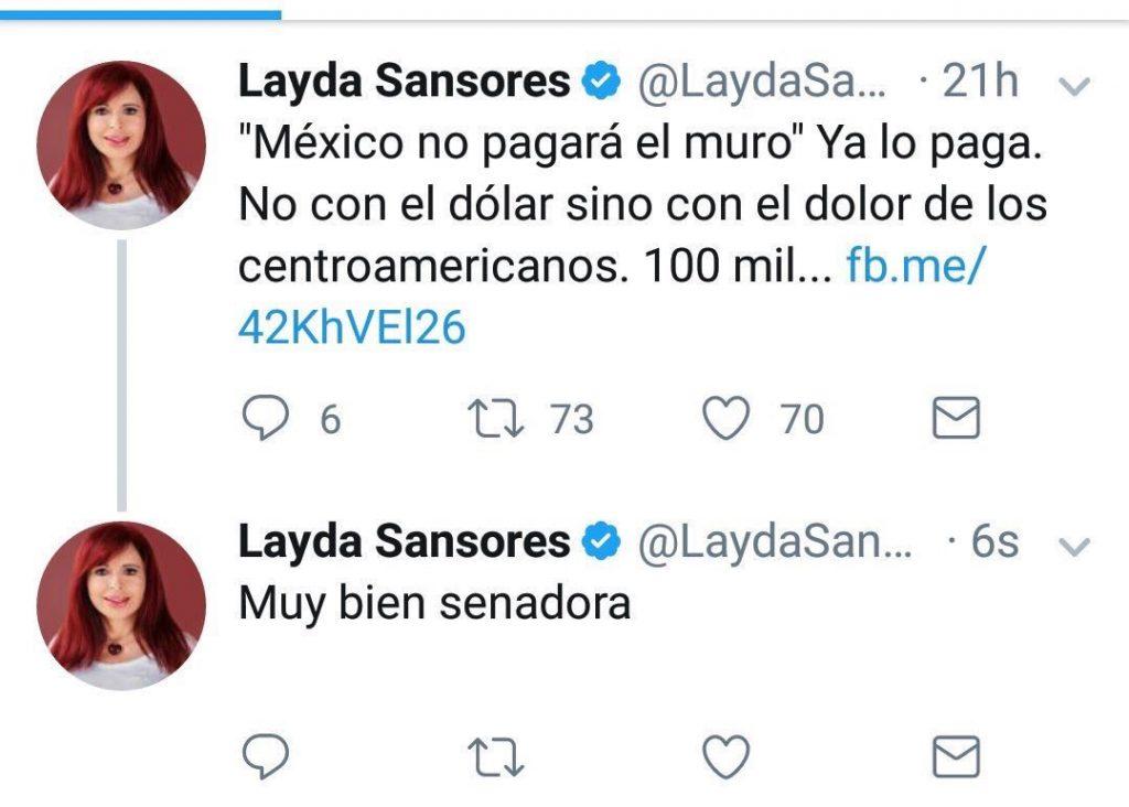 Layda Sansores error community manager