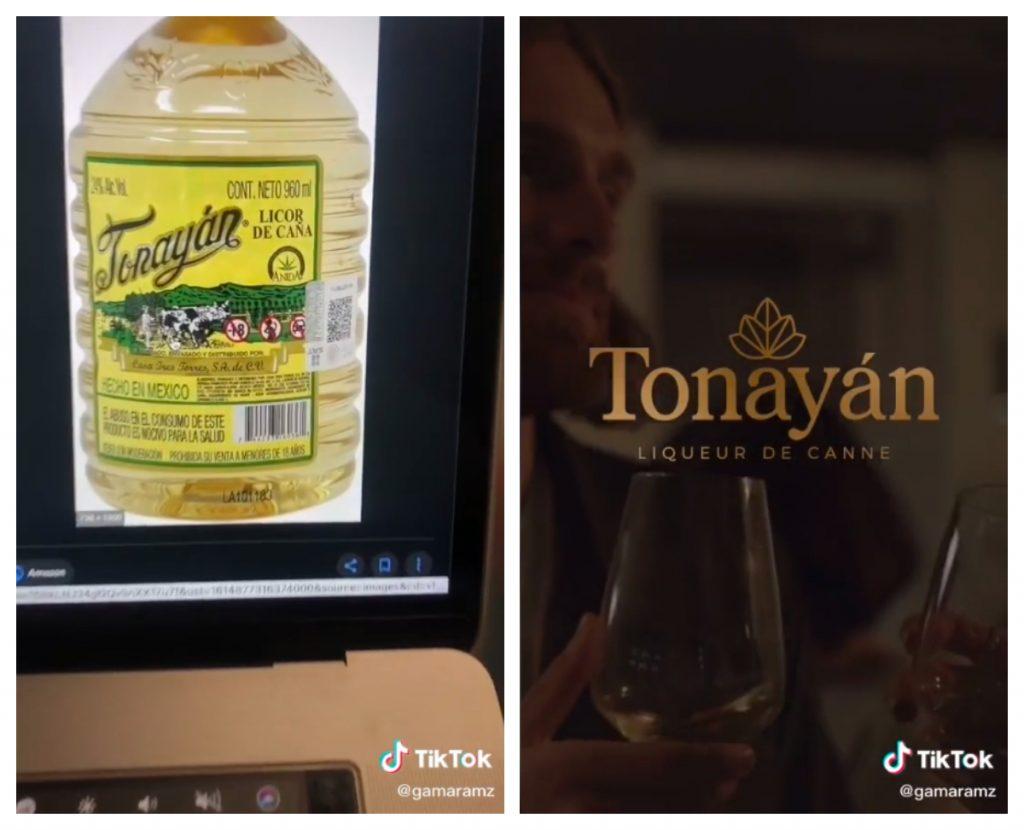 El primer rediseño que hizo Gama Ramírez fue el del logo del Tonayan. Imágenes: TikTok @gamaramz