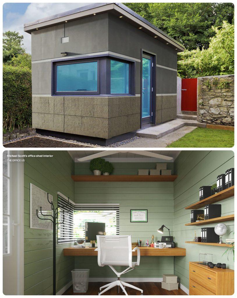 Así se vería la oficina de Michael Scott de The Office. Foto: HouseholdQuotes