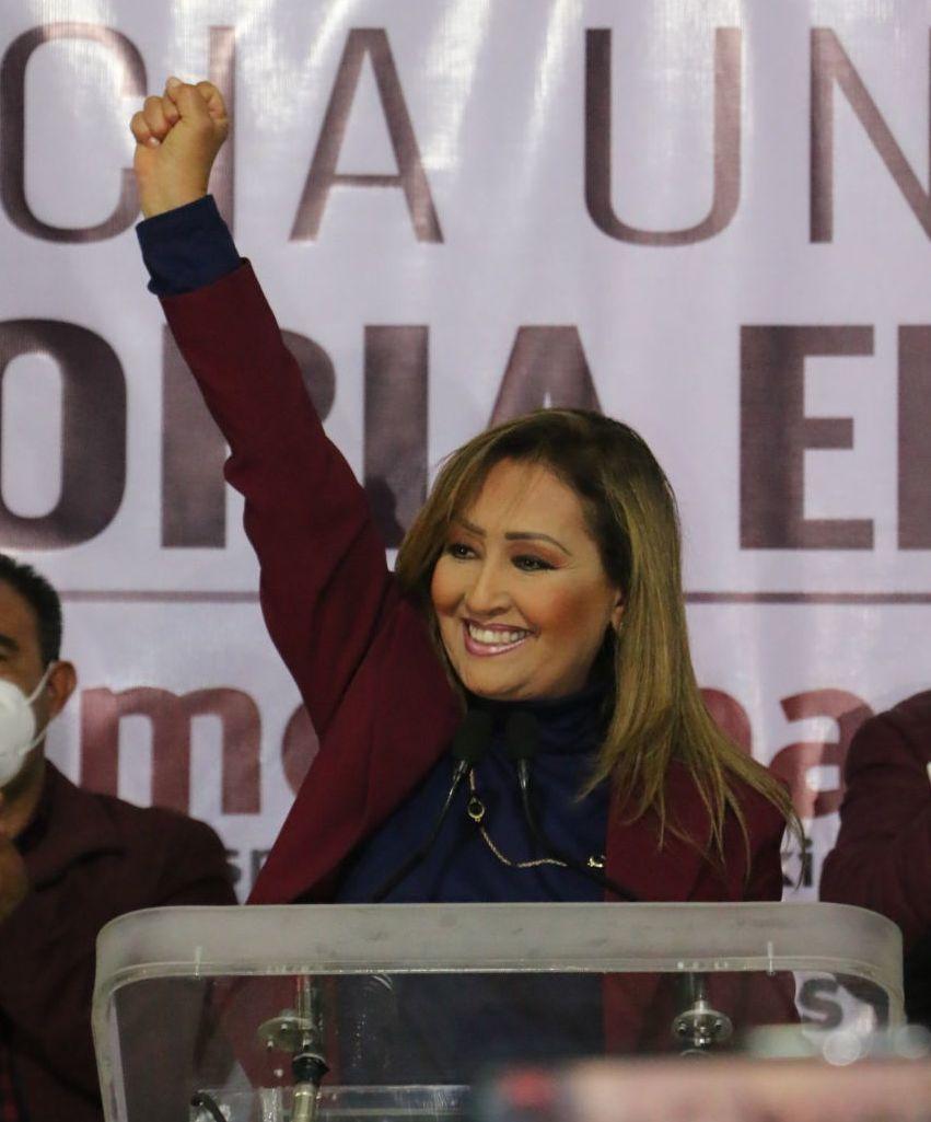 Lorena Cuéllar se perfila como la gobernadora de Tlaxcala en las elecciones 2021. Foto: Joaquín Sanluis | Cuartoscuro