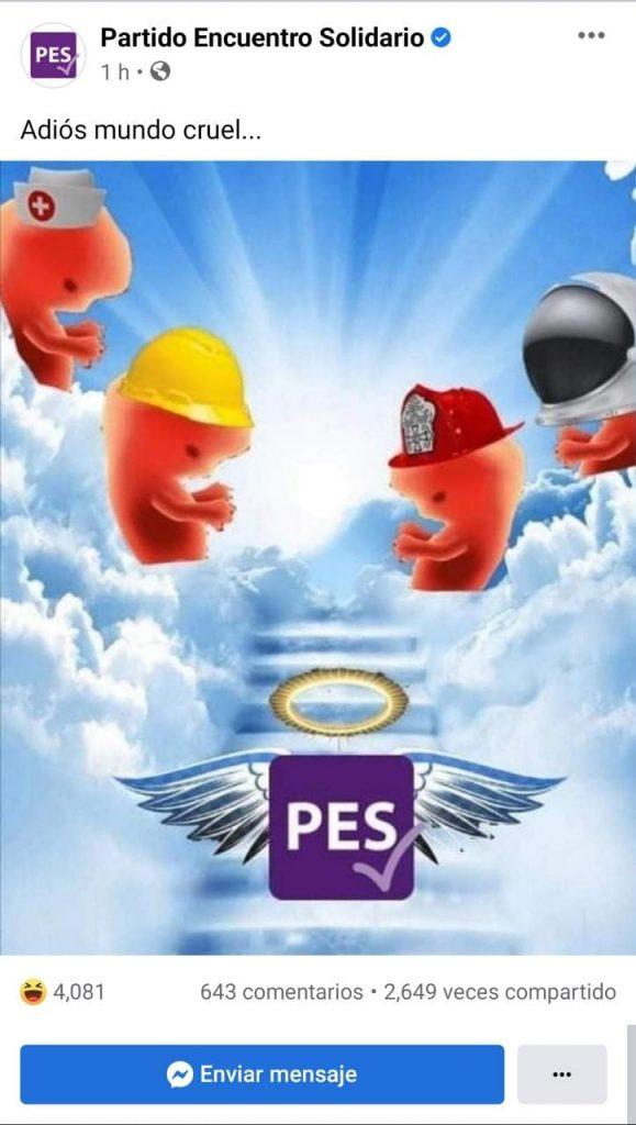 El Facebok del PES también fue hackeado. Foto: PES