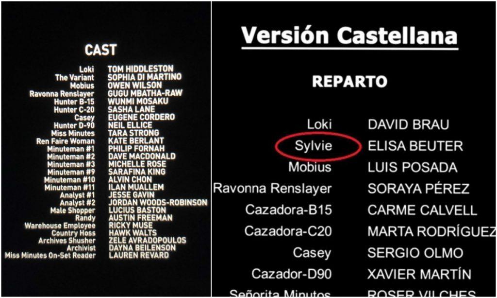 En los créditos en castellano del capítulo 2 de la serie, se revela quién es la mujer que sale en Loki como La Variante. Capturas de pantalla tomadas de créditos de 'Loki', serie de D+.