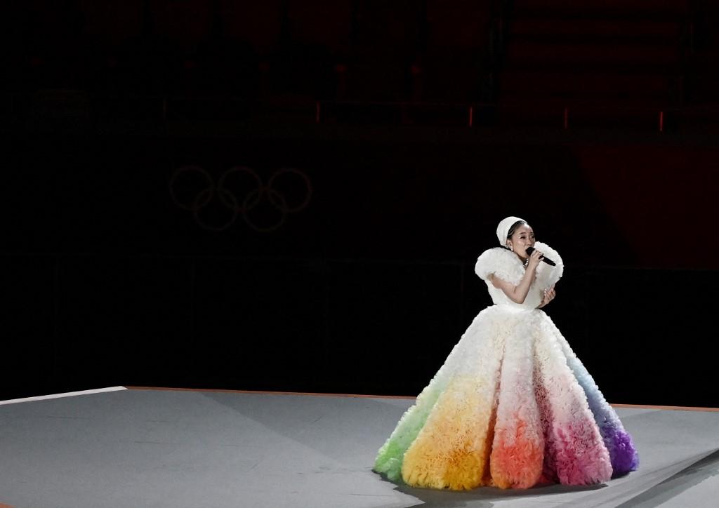 Misia, cantante japonesa en la inauguración de Japón 2020. Foto: Jewel Samad   AFP