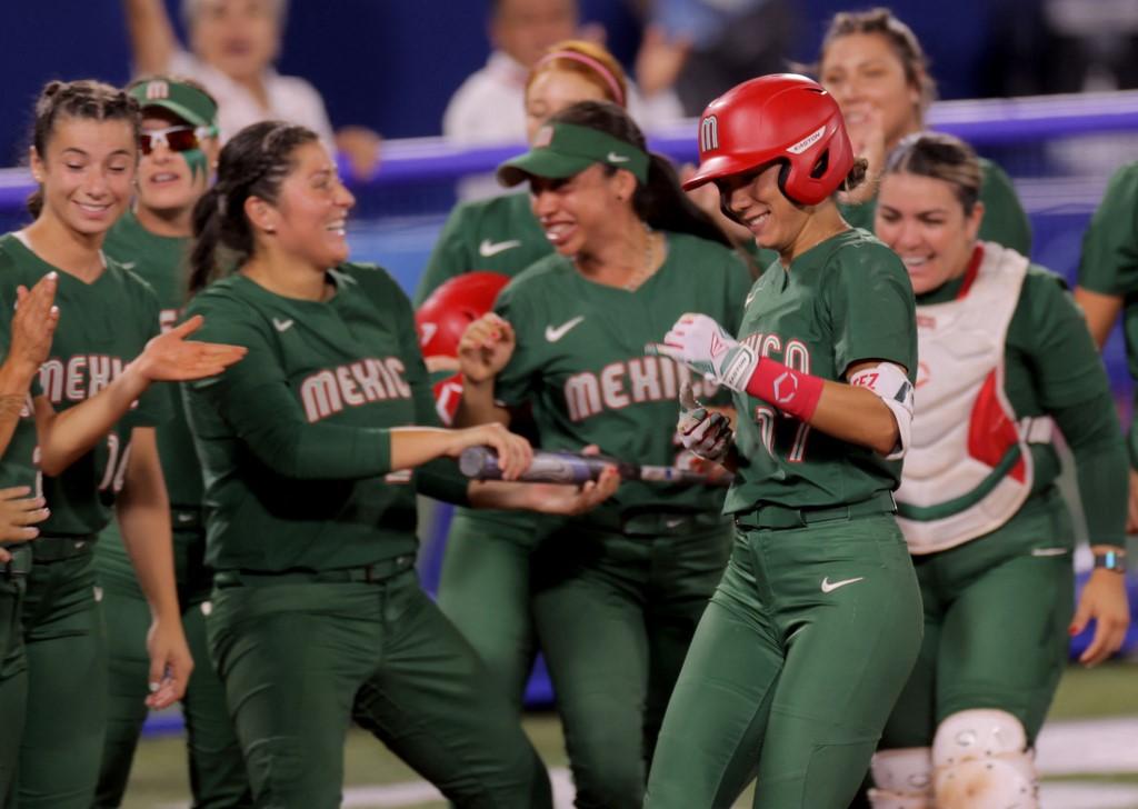 Equipo de sóftbol México en los Juegos Olímpicos Tokio 2020. Foto: Kazuhiro Fujihara | AFP