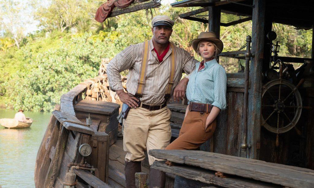 Emily Blunt y Dwayne Johnson protagonizan Jungle Cruise de Disney. Foto: Disney+