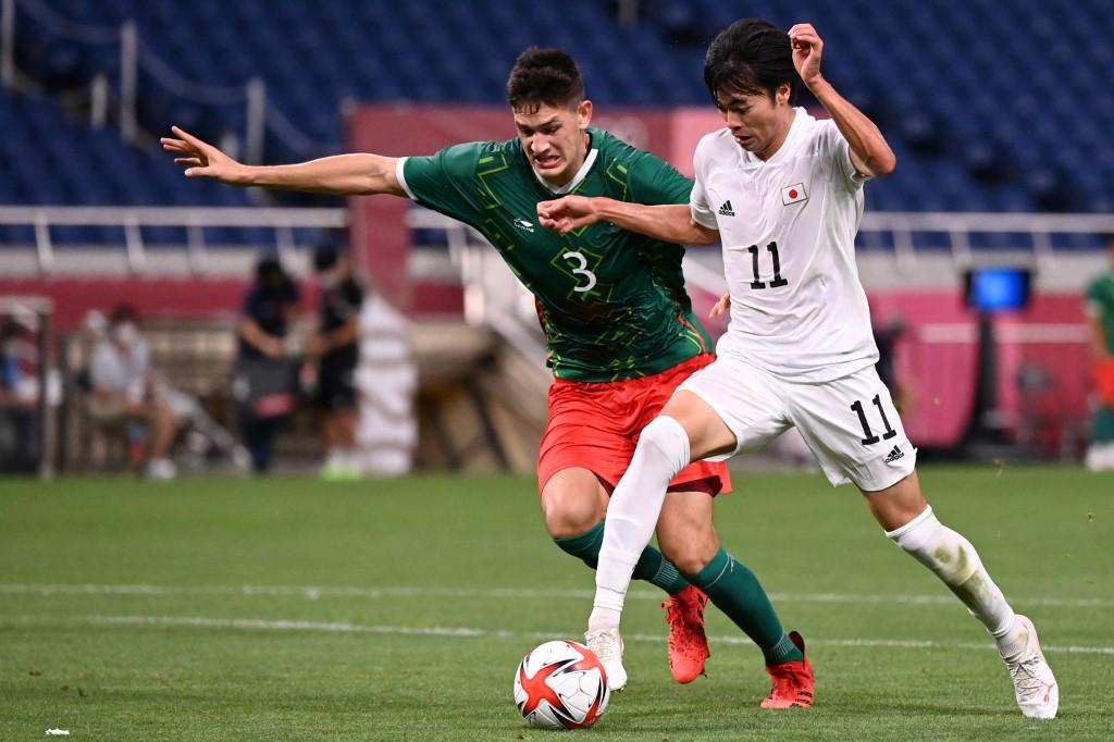 Kaoru Mitoma anotó gol a México. Foto: Jonathan Nackstrans | AFP