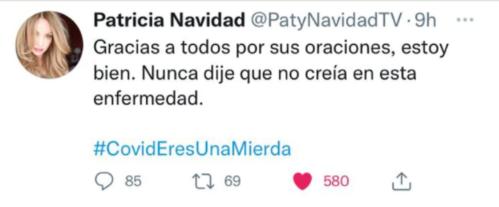 Paty Navidad se contradijo en Twitter y la plataforma le suspendió la cuenta