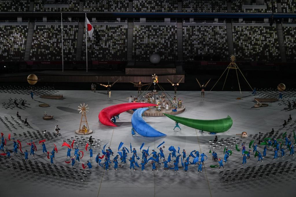 El símbolo de los Juegos Paralímpicos. Foto: Charly Triballeau | AFP