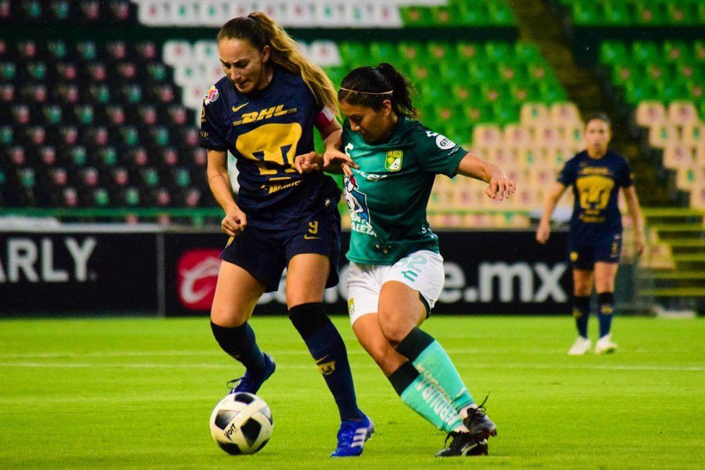 Partido de la jornada 9 del torneo Grita México Apertura 2021 de la Liga BBVA MX Femenil, entre el León y Pumas, celebrado en el estadio León. Foto: Imago   Cuartoscuro