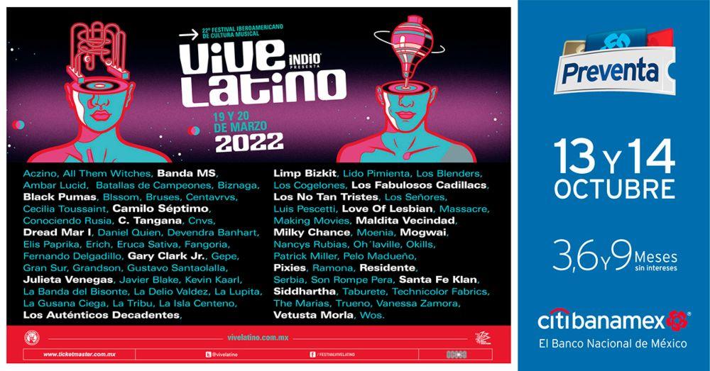 cartel oficial vive latino 2022
