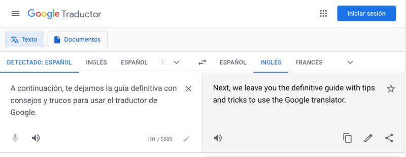 traductor de Google en web