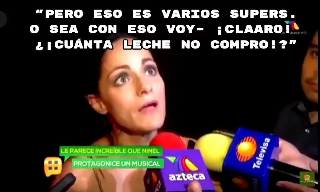 Meme Lolita Cortés, la Academia, VARIOS SÚPERS, CUÁNTA LECHE NO COMPRO.